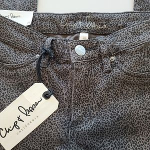 Chip & Pepper Jeans Taupe Leopard Skinny Size 28